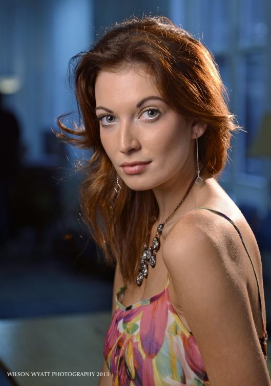 Portrait of professional model Richelle Oslinker