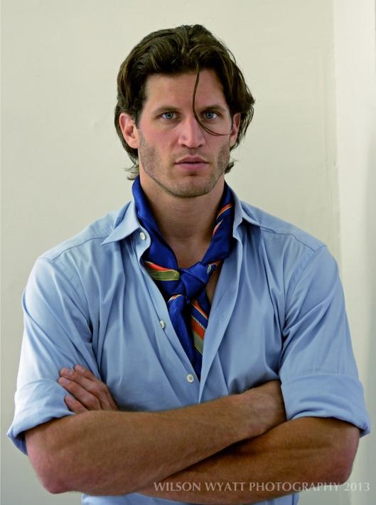 Portrait of professional model Andy Peeke