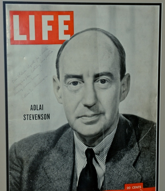 Adlai Stevenson, candidate for President, later U.S. Ambassador to the United Nations - cover of LIFE magazine, August 4, 1952