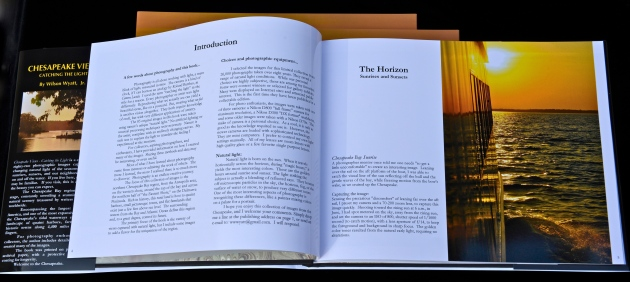 "Introduction and image, ""Chesapeake Bay Sunrise,"" inside page."