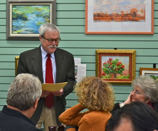 Author William Peak reading his poetry in Vol. 6, The Delmarva Review