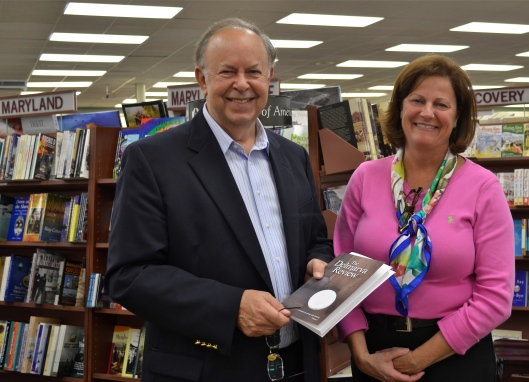 Executive Editor Wilson Wyatt with Kimberly Bushey, Manager of The News Center bookstore