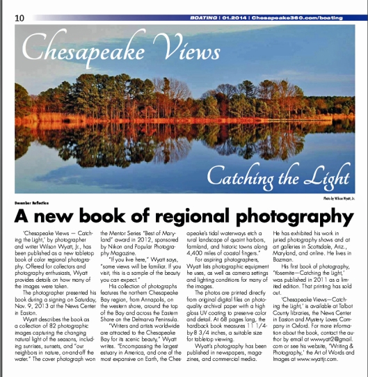 """December Reflection"" photo and article in Chesapeake 360"