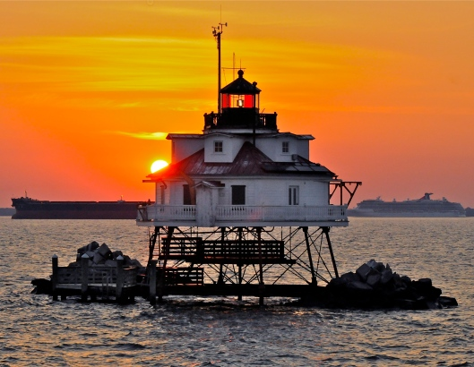 Sunrise at Thomas Point Lighthouse, by Wilson Wyatt jr. - Click on image for larger view