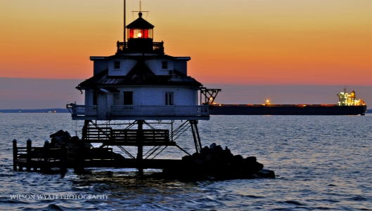 Chesapeake Sunrise, at Thomas Point Light