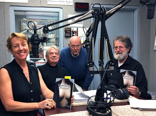 Taping at WSDL 90.7 public radio celebrating the 8th edition of The Delmarva Review